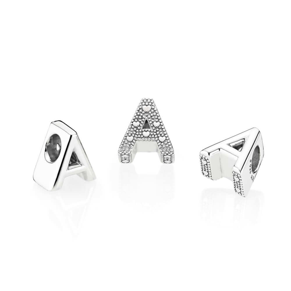 pandora letter charms