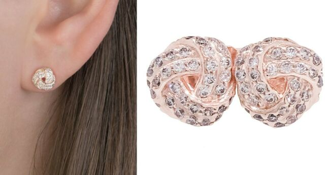 pandora rose gold earrings